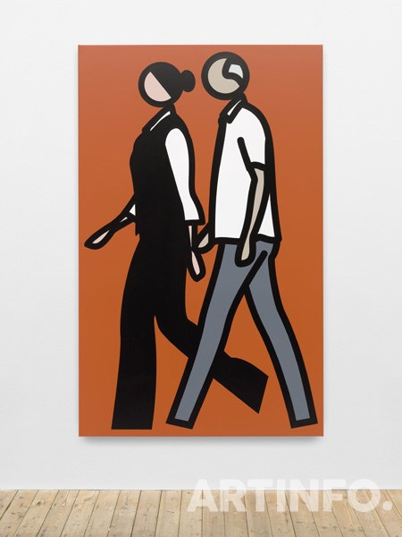 줄리안 오피, 'Ian and Danielle. 1.'. Vinyl on wooden stretcher, 216 x 135.3 x 3.5 cm, 2016.(사진=국제갤러리)