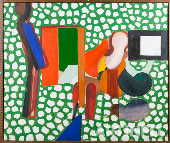 하워드호지킨(Howard Hodgkin), 'Anthony Hill and Gillian Wise'. oil on canvas, 107cm x 127cm,1964~66.(사진=더페이지갤러리)